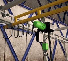 Industrial Hoists, Trolleys & Cranes