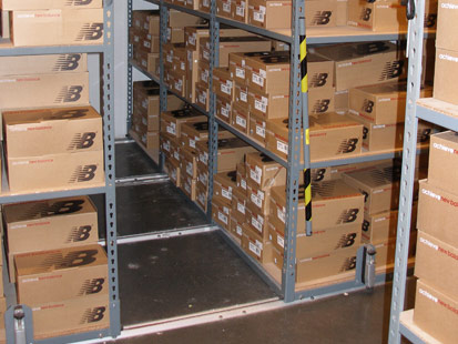 Mobile Aisle Steel Shelving