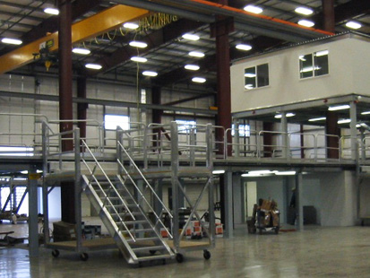 Multi Level Steel Mezzanine and Mobile Work Platforms