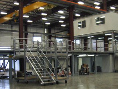 Multi Level Steel Mezzanine and Mobile Work Platforms