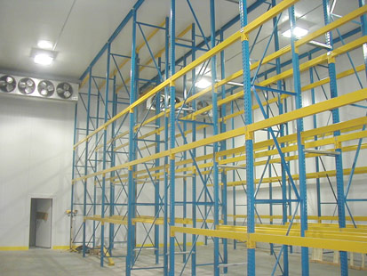 Pallet Rack Supported Freezer Building