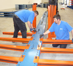 Roll Formed Cantilever Rack Installation