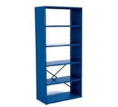 Closed Industrial Metal Shelving (with Open Back)