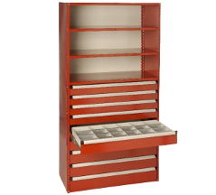 High Density Drawer Industrial Metal Shelving