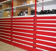 Industrial Open & Closed Metal Shelving 14