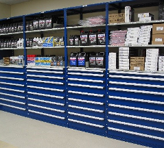 Industrial Open & Closed Metal Shelving 15