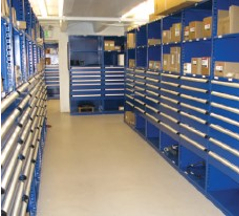 Industrial Open & Closed Metal Shelving 16