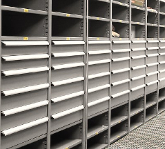 Industrial Open & Closed Metal Shelving 17