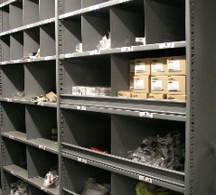 Industrial Open & Closed Metal Shelving 8