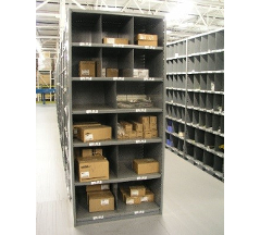 Industrial Open & Closed Metal Shelving 9