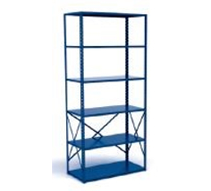 Open Industrial Metal Shelving