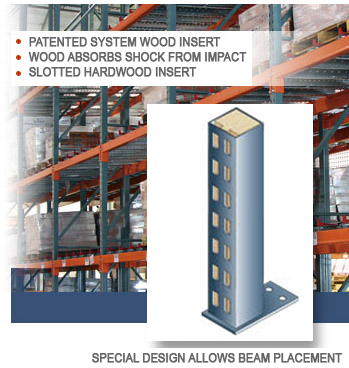 Unarco's Wood Filled Pallet Rack Upright Columns Provide Maximum Stability