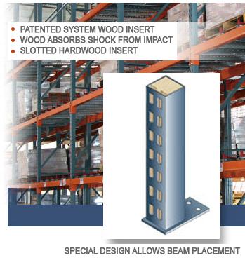 Unarco Wood Filled Pallet Rack