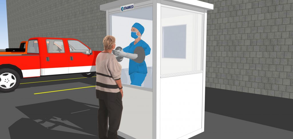 PPE Screening Booth Prefabricated Building