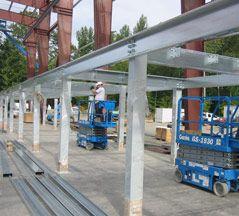 Mezzanine Frame Installation