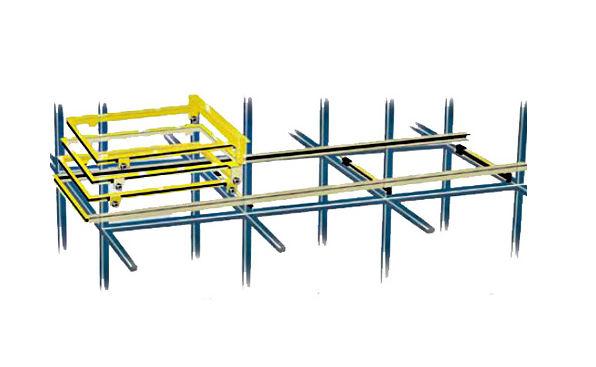 Push Back Pallet Rack Cart Diagram